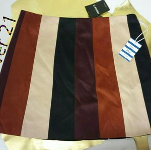 Multi Colored Striped Skirt size Large